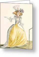 Collerette A La Henri Iv, Plate Greeting Card