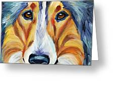 Collie Greeting Card by Melissa Smith