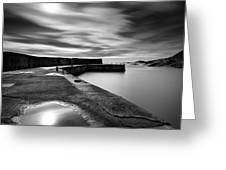Collieston Breakwater Greeting Card