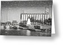 Collingwood Terminals In Old Days Greeting Card