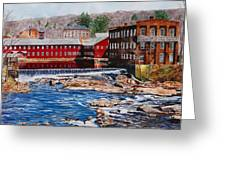 Collinsville Axe Factory Greeting Card by Sharon Farber