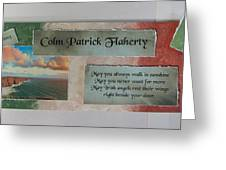 Colm Irish Name Plate Greeting Card
