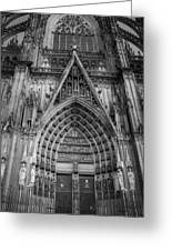 Cologne Cathedral 11 Bw Greeting Card
