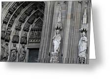 Cologne Cathedral South Side Detail 1 Greeting Card