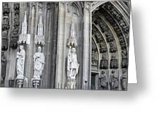 Cologne Cathedral South Side Detail 2 Greeting Card