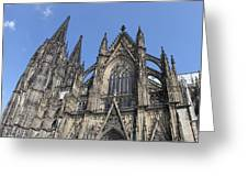 Cologne Cathedral South Side Rooflines Greeting Card