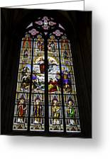 Cologne Cathedral Stained Glass Window Of St Paul Greeting Card