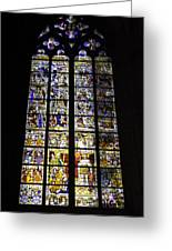 Cologne Cathedral Stained Glass Window Of St Peter And Tree Of Jesse Greeting Card