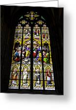 Cologne Cathedral Stained Glass Window Of St Peter Greeting Card