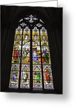 Cologne Cathedral Stained Glass Window Of The Adoration Of The Magi Greeting Card