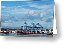 Colon Container Terminal, Panama Canal Greeting Card