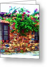 Colonia Del Sacramento Window Greeting Card