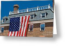 Colonial Building  Greeting Card