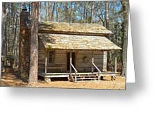 Colonial Cabin Greeting Card