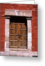 Colonial Door Arequipa Peru Greeting Card