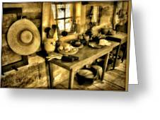 Colonial Kitchen Greeting Card