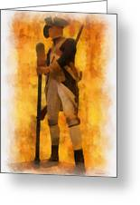 Colonial Soldier Photo Art  Greeting Card by Thomas Woolworth