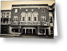 Colonial Theater In Phoenixville In Sepia Greeting Card