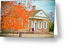 Colonial Williamsburg Courthouse Greeting Card