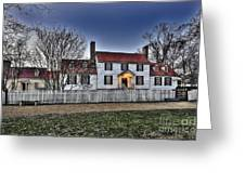 Colonial Williamsburg George Tucker House Greeting Card