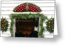 Colonial Williamsburg Yuletide Decorations Greeting Card