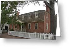 Colonial Williamsburg Scene Greeting Card
