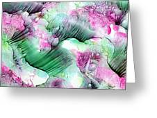 Color Abstract Red-green Greeting Card
