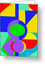 Color And Shape Series #1 Greeting Card