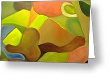 Color And Shapes Greeting Card