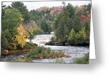 Color At The Falls Greeting Card