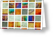 Color Block Collage Abstract Art Greeting Card