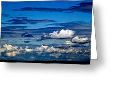 Color Burned Clouds Greeting Card