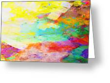 Color Burst Abstract Art  Greeting Card