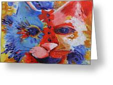 Color Cat Greeting Card
