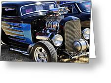 Color Chrome 1932 Black Ford Coupe Greeting Card