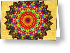 Color Circles Kaleidoscope Greeting Card