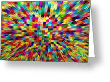 Color Explosion I Greeting Card
