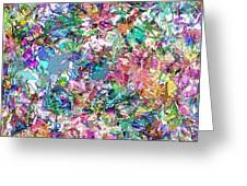 Color Filled Abstract Greeting Card