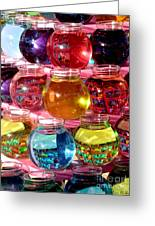 Color Fish Bowls Greeting Card