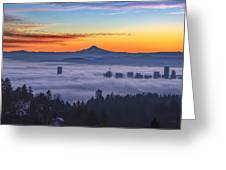 Color Fog Mountain Greeting Card