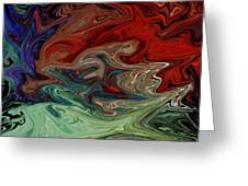 Color Fusion To The Ablution Of Delusions  Greeting Card