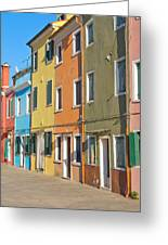 Color Houses In Row Greeting Card