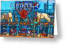 Color In Comerica Greeting Card