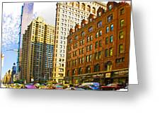 Color In The City Greeting Card