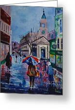 Color In The Rain Greeting Card