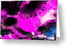Color Infared Glass Flowers Greeting Card