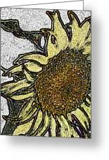 Color Me Sunflower Greeting Card