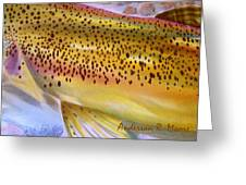 Color Me Trout- Brown Greeting Card