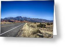 Color My Road V2 Greeting Card