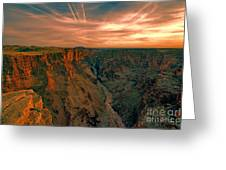 Color Of The Grand Canyon South Rim V8 Greeting Card
